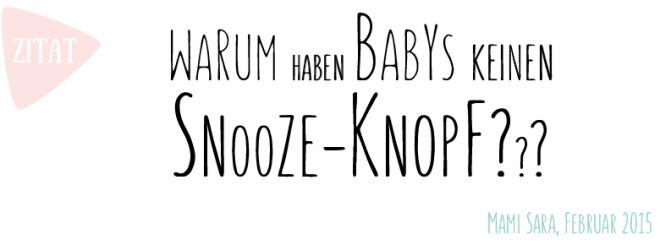 Lustiges Baby Zitat
