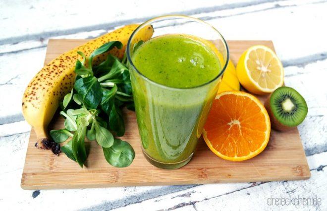 Wie macht man einen grünen Smoothie, der auch schmeckt?