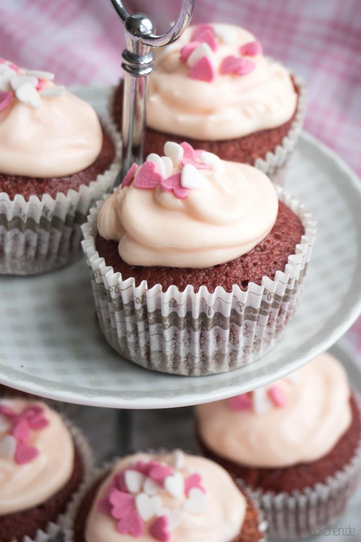 leckere Pink Velvet Cupcakes