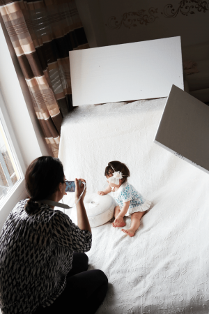 Do-it-yourself Babyfotos zuhause selbst machen