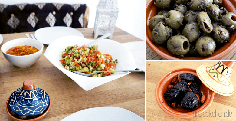 Raclett Ideen mit marokkanischen Gerichten