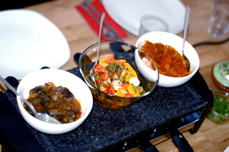Raclett mal anders für Veganer, Vegetarier oder mit Fleisch