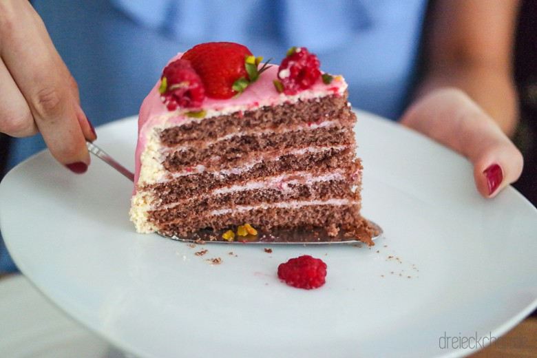 Schnelle und einfache Torte mit Fertigteig
