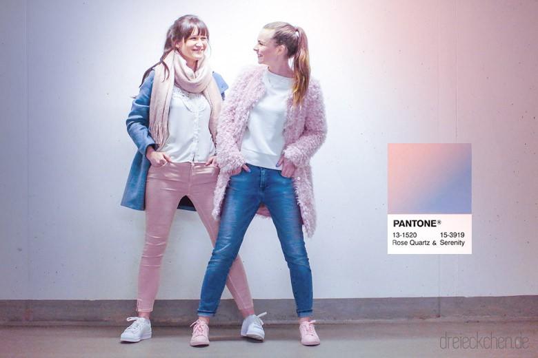 Pantone Trend Farben Rose Quartz und Serenity