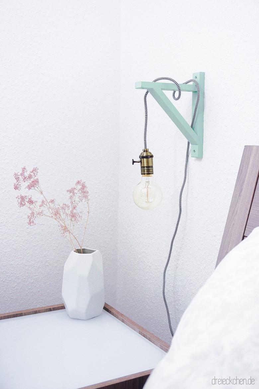 diy gluehbirnen lampe textilkabel mint dreieckchen blog 72 von 76 dreieckchen lifestyle. Black Bedroom Furniture Sets. Home Design Ideas