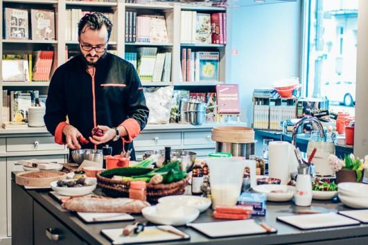 bloggerevent im berliner kochhaus das begehbare kochbuch dreieckchen lifestyle blog. Black Bedroom Furniture Sets. Home Design Ideas