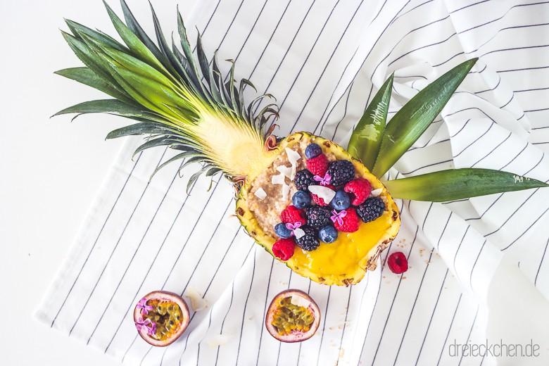 Leckeres Porrige Rezept Blog mit Ananas