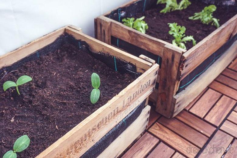Beliebt Bevorzugt DIY (Outdoor) | Balkon-Garten mit Weinkisten #Balkonliebe &DT_88