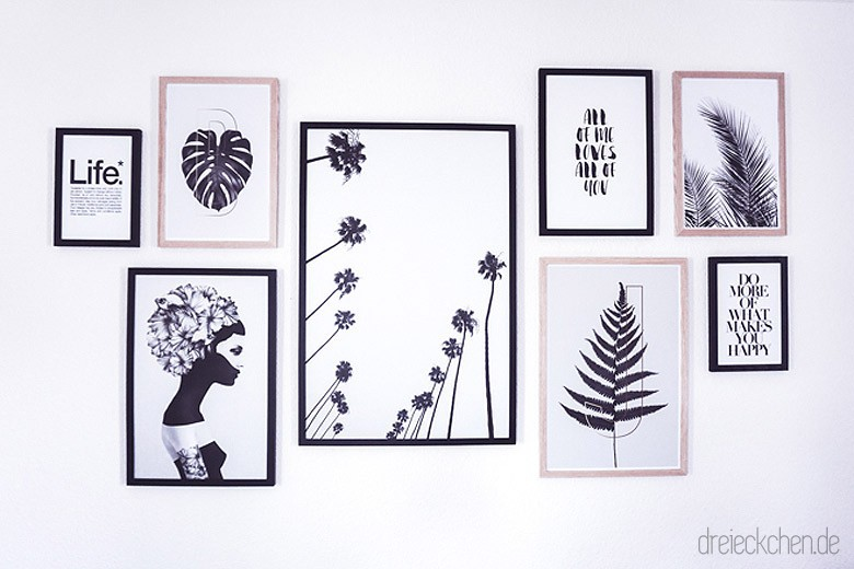 Wohnzimmer Inspiration: Neue Botanical Gallery Wall in Schwarz-Weiß ...