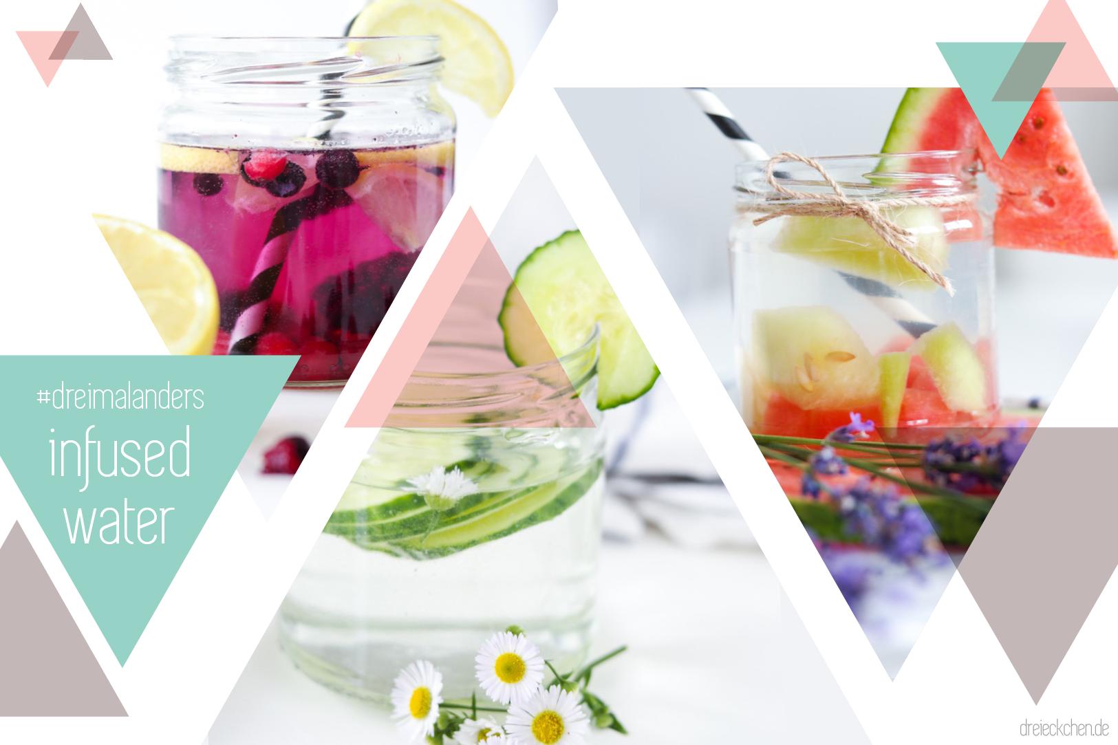 Rezept für infused water, wasser mit geschmack