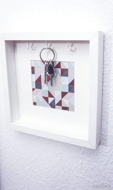 geschenk zum einzug bilderrahmen schl sselkasten dreimalanders werbung dreieckchen. Black Bedroom Furniture Sets. Home Design Ideas