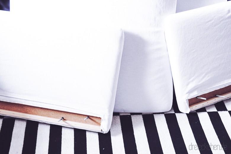 IKEA SÖDERHAMN Couch Finnsta weiß Seitenelemente für Polsterung