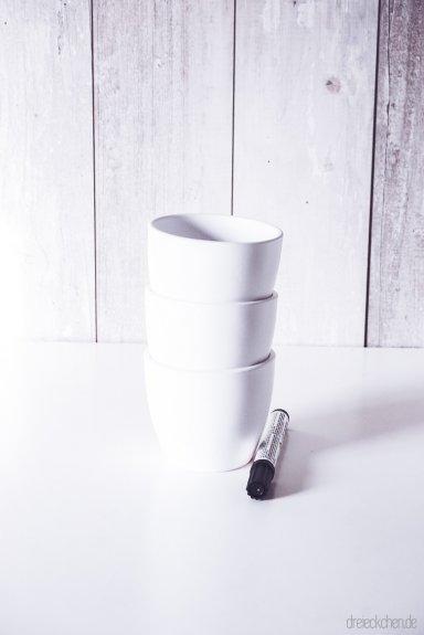Porzellan bemalen - DIY-Ideen #dreimalanders › dreieckchen ...