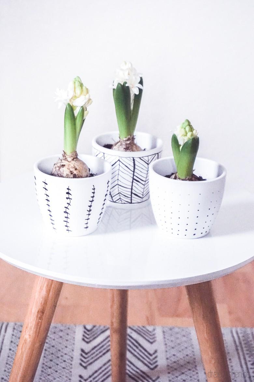 bemalen ideen inspiration blumentpfe bemalen vorlagen. Black Bedroom Furniture Sets. Home Design Ideas