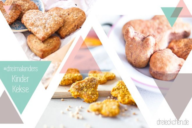Drei Rezepte für gesunde Kinderkekse
