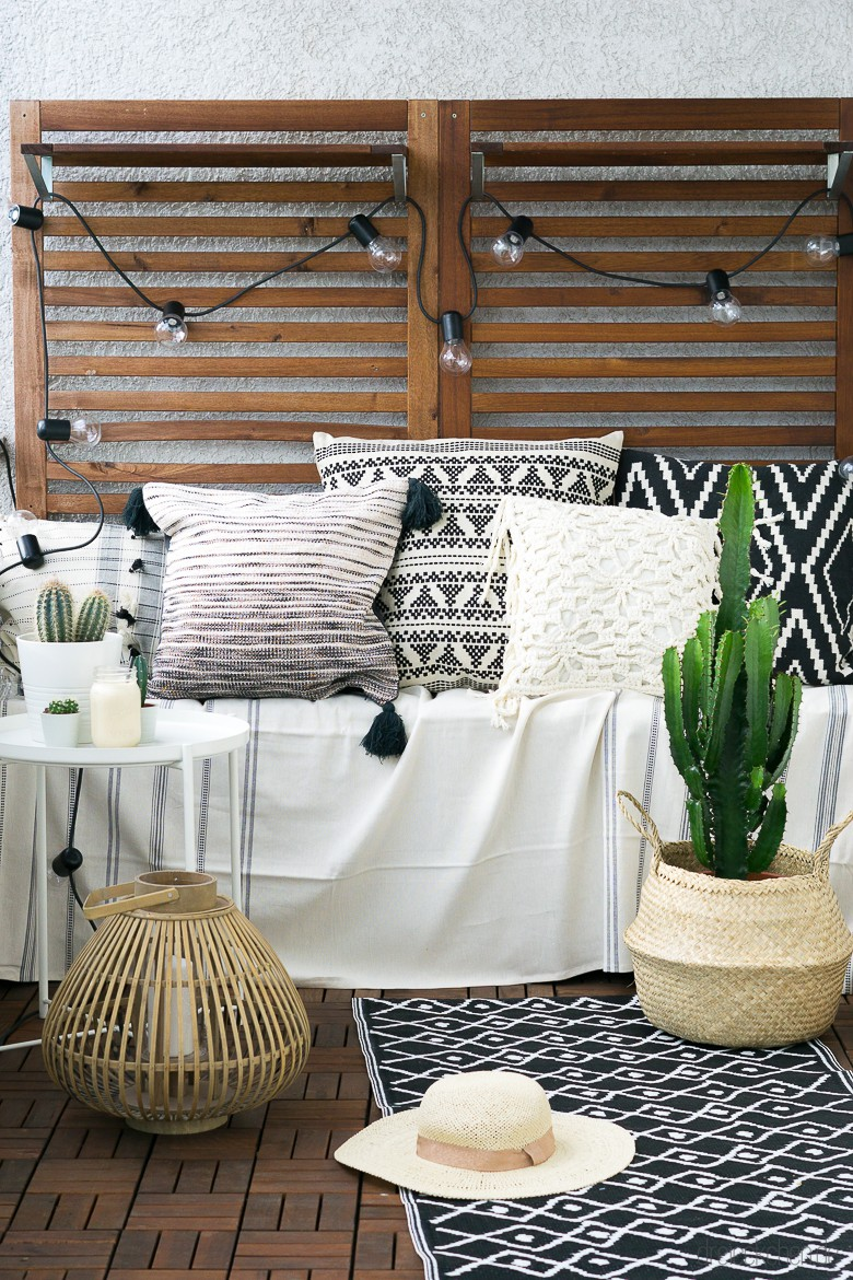 3 deko tipps f r den balkon so einfach geht der boho look. Black Bedroom Furniture Sets. Home Design Ideas