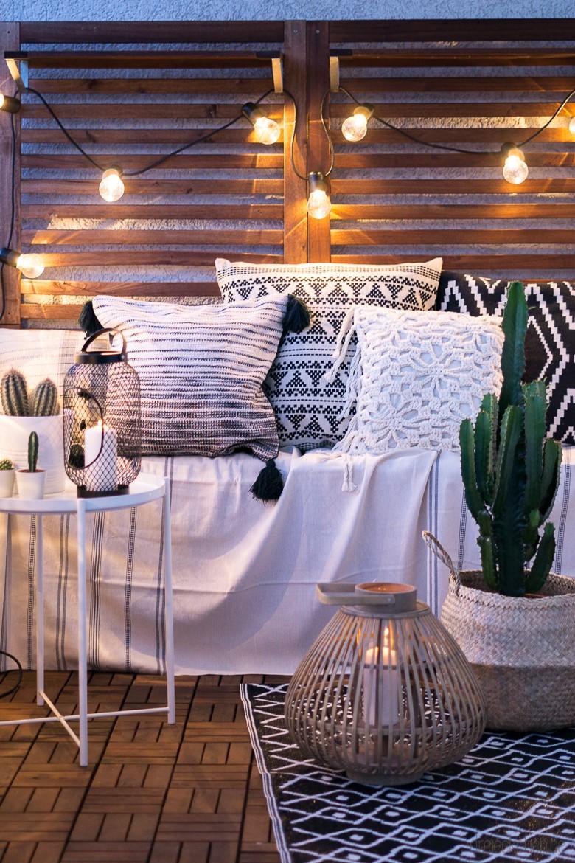 3 deko tipps f r den balkon so einfach geht der boho look. Black Bedroom Furniture Sets. Home Design Ideas