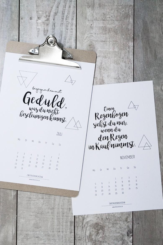 diy geschenkidee zu weihnachten kostenloser handlettering kalender 2018 dreieckchen. Black Bedroom Furniture Sets. Home Design Ideas