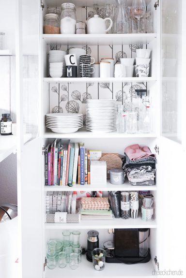 ordnungstipps f r eine aufger umte k che mit ikea hack vom billy regal zum k chenschrank im. Black Bedroom Furniture Sets. Home Design Ideas
