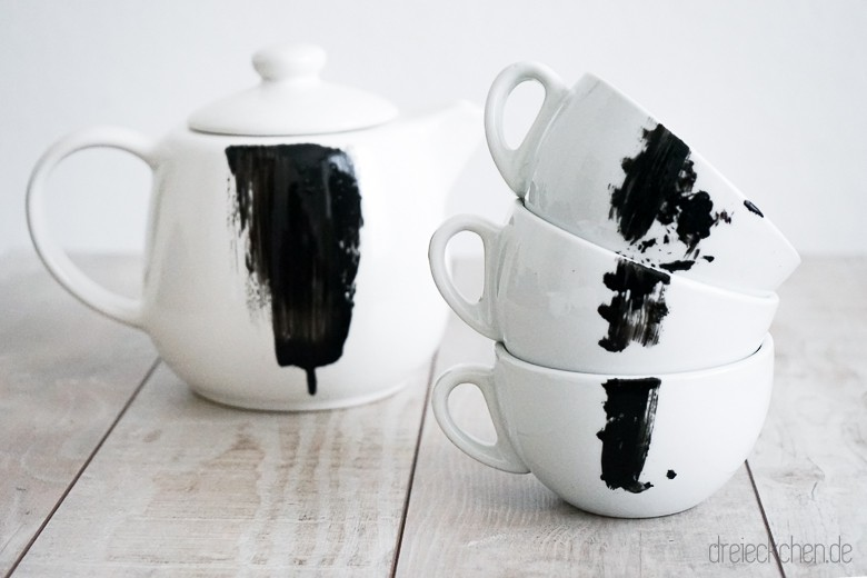diy idee geschirr mit porzellanfarbe bemalen. Black Bedroom Furniture Sets. Home Design Ideas