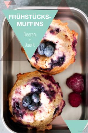 Blaubeer Quark Muffins gesund