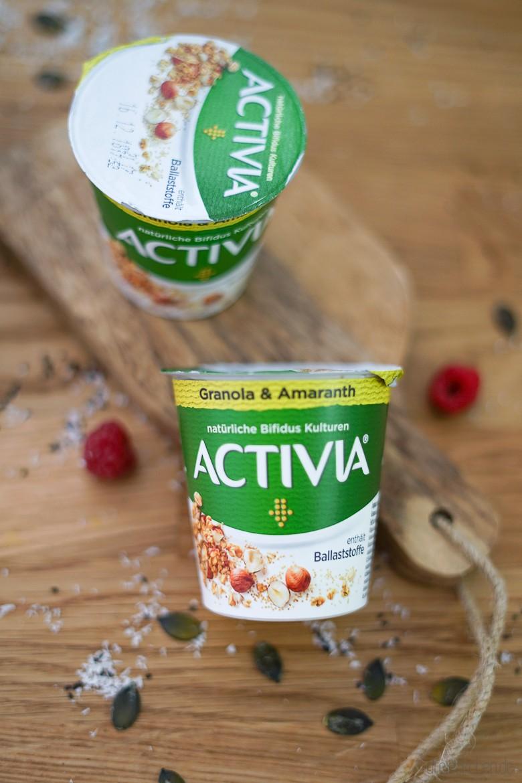 """Wohlfühlen vielseitig und lecker mit dem neuen ACTIVIA Joghurt """"mit Ballaststoffen"""" Granola & Amaranth"""