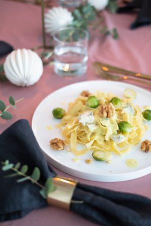 Nudeln an Weihnachten mit Gorgonzola