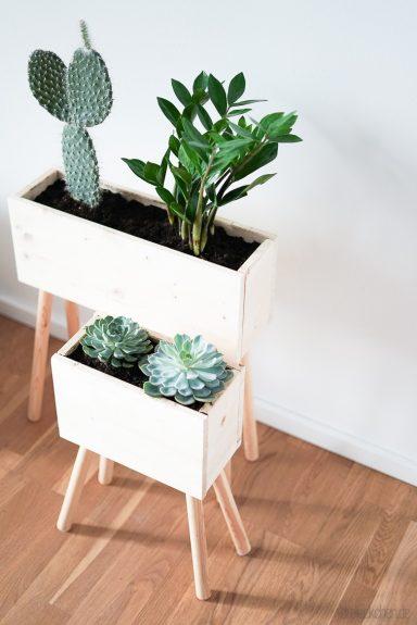 plant box aus holz selbst machen diy idee f r eure zimmerpflanzen werbung dreieckchen. Black Bedroom Furniture Sets. Home Design Ideas