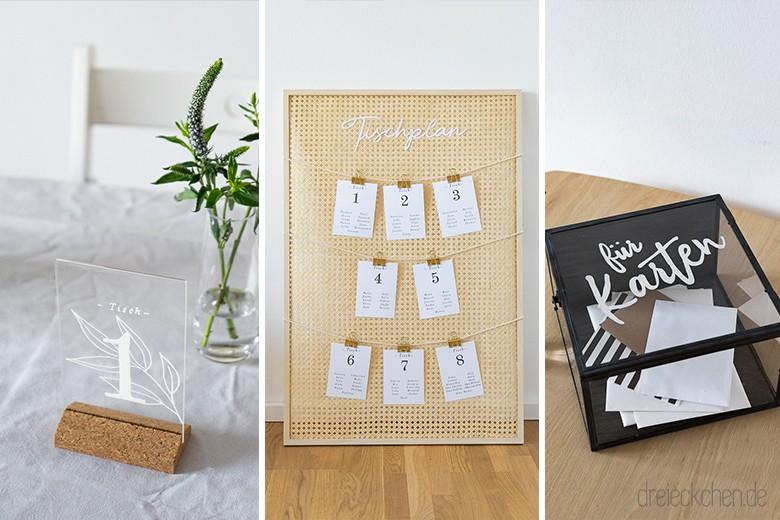 Diy Und Deko Ideen Zur Hochzeit Mit Ikea Sitzordnung Tisch