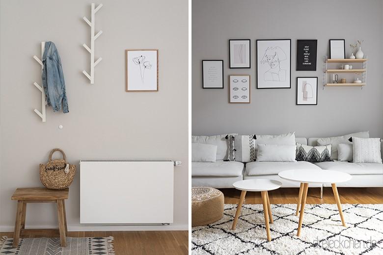 Wohnideen mit neuer Wandfarbe: Tipps zum Garderobe und Wohnzimmer ...