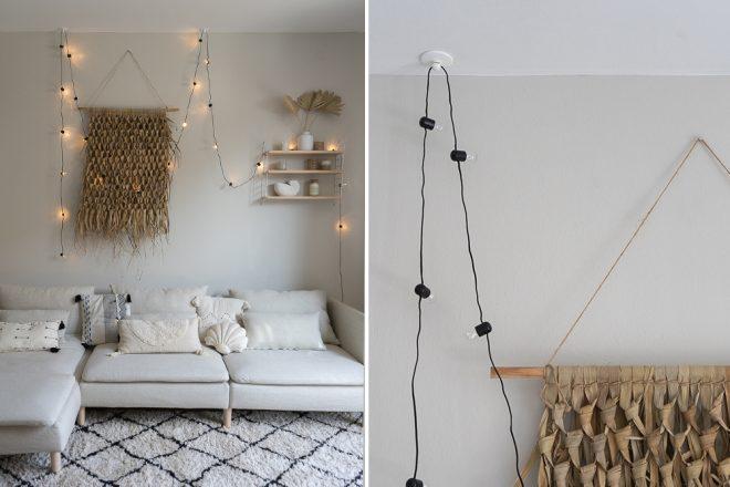 Wandgestaltung Furs Wohnzimmer Deko Ideen Im Boho Stil Dreieckchen