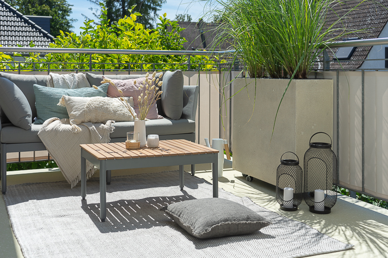 Balkon Sichtschutz Mit Pflanzen Pampasgras In Pflanzkubeln Blog Dreieckchen